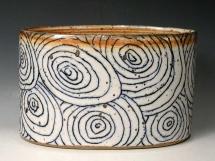 Steinzeug Vase, oval