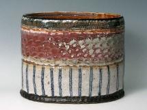 Steinzeugvase, oval